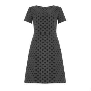 Boden Kathryn velvet polka dot dress wool blend 8